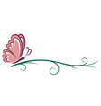 symbol of pink butterfly vector image vector image