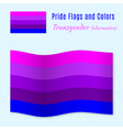Transgender pride flag with correct color scheme vector image vector image