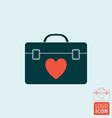transplant human organ box icon vector image
