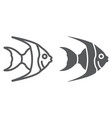 tropical fish line and glyph icon animal vector image vector image