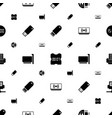 usb icons pattern seamless white background vector image vector image