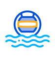 water volleyball icon outline vector image vector image