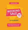 weekend sale flyer template vector image vector image
