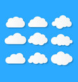 white blank cloud symbol or logo thinking balloon vector image vector image