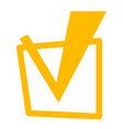 yellow tick in checkbox vector image
