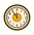 old clock timer midnight celebration vector image