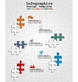 Infographics web design with puzzle vector image