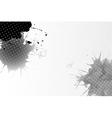 Abstract hand drawn watercolor gray-black vector image vector image