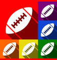 american simple football ball set of vector image vector image