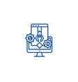 application and software develop line icon concept vector image vector image