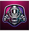 Astronaut esport mascot logo design