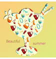 beautiful summer vector image vector image