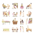 Beauty Spa Salon People Set vector image