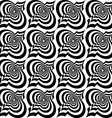Black and white twisted Marrakesh vector image vector image