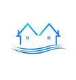 blue houses logo vector image
