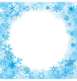 Border from colored snowflakes
