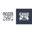 broken video game joystick emblem vector image
