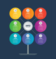 business presentation concept with 8 options vector image vector image