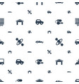 car icons pattern seamless white background vector image vector image