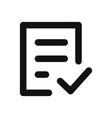 check form icon vector image