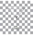 classic martini glass vector image vector image