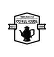 coffee house emblem template design element vector image vector image