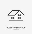 country house flat line icon real estate sign vector image vector image