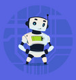 cute robot happy smiling modern artificial vector image