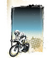 cycling poster background vector image vector image