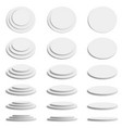 cylinder 3d platform realistic round stand stage vector image vector image