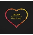 dark of heart made of hearts vector image vector image