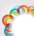 Design element with colorful rings vector image