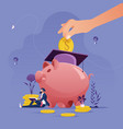 education savings and investment concept vector image