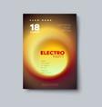 electro dj party flyer vector image