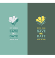 Elegant flowers Wedding graphic set vector image vector image