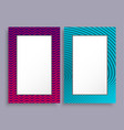 empty frames two banners of purple and blue color vector image vector image