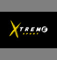 extreme sport logo emblem in grunge style on a vector image vector image