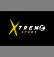 extreme sport logo emblem in grunge style vector image