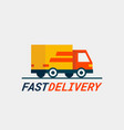 fast delivery service delivery car or truck vector image