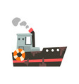 fishing vessel ship for seafood production retro vector image vector image