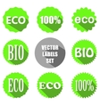 flat eco labels set vector image vector image