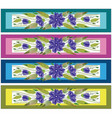 floral ornamental bookmark folk petrykivka style vector image vector image