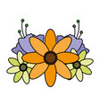 flowers leaves decoration vector image vector image