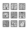 frames with leaves texture vector image vector image