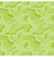 Geometric green camouflage seamless pattern vector image