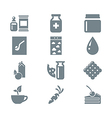 gray icon set gastronomy vector image vector image