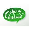 Green paper Merry Christmas banner vector image vector image