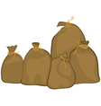 Group of sacks vector image