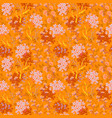 hand drawn floral pattern seamless texture vector image