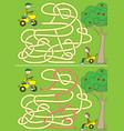 happy boys maze vector image